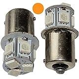AERZETIX: 2 x Bombillas P21W R5W R10W 12V 8LED SMD ambar base de 1156