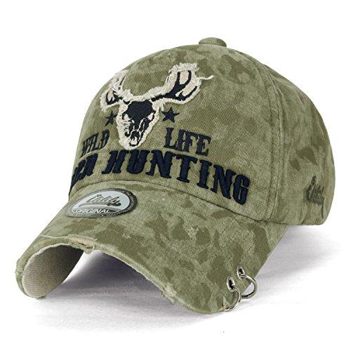 ililily WILD LIFE Embroidery Eyelet Ring Trim Cotton Baseball Cap Trucker  Hat 3335549e33c0