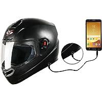 Steelbird SBA-1 7Wings HF Dashing Full Face Helmet with Plain Visor and Detachable Handsfree Device (REGULAR FIT MEDIUM…
