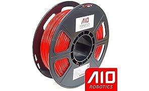 AIO Robotics AIORED PLA Bobine de filament pour imprimante 3D 0,5 kg Précision dimensionnelle +/- 0,02 mm 1,75 mm Rouge