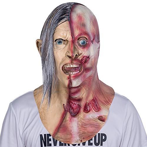 Kostüm Krueger Freddy Streich - LUOJUNHUAN Erwachsenenmaske Zombie Maske Latex Bloody Scary Extrem Ekelhaft Vollgesichtsmaske Kostüm Party Cosplay Requisiten