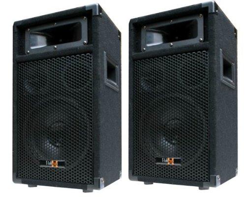 """2X 400W DJ Party Lautsprecher Boxen Paar - 8"""" Bass - E-Lektron PW20"""