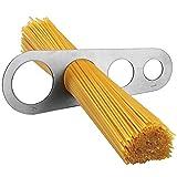 Merssavo Merssavo Medidor de Spaghetti de Acero Inoxidable Medida de Pasta Herramienta Cocina Gadget Plata
