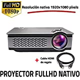Unicview FHD900 - Proyector Full HD Nativo 1080P, LED, HDMI, USB (Compatible PS4, Xbox, Switch,...
