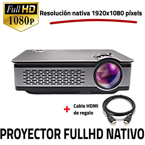 Unicview FHD900 - Proyector Full HD Nativo 1080P, LED, HDMI, USB (Compatible PS4, Xbox, Switch, Clase de eficiencia energética A++)