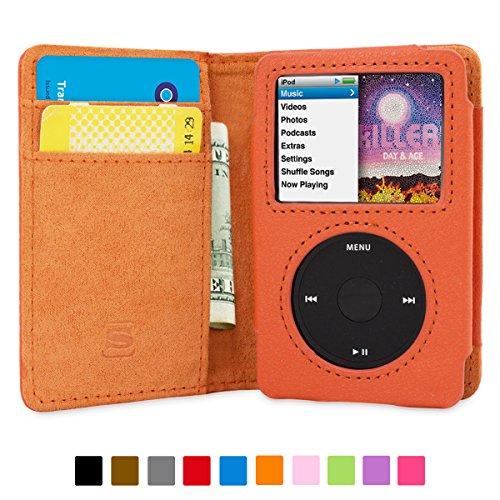 ipod-classic-case-snugg-orange-leather-flip-case-card-slots-executive-apple-ipod-classic-wallet-case