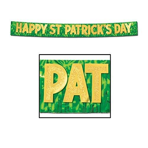 Beistle Party Dekoration Metallic Happy St Patrick 's Day Banner 25,4cm X 10'-6Stück