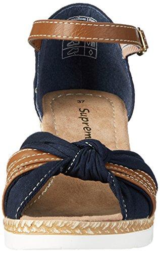 Supremo 2720704, Sandales  Bout ouvert femme Bleu Marine