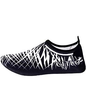 UPhitnis Quick-Dry Barefoot Shoes Hombres Mujeres Niños Aqua Calcetines Calzado, zapatos de piel de peso ligero...
