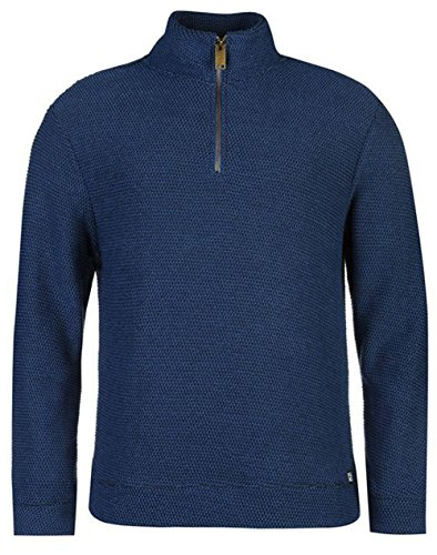 mens-sweatshirt-quarter-zip-waffle-sweat-top-medium-light-navy