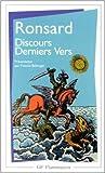 Telecharger Livres Discours derniers vers de Pierre de Ronsard Yvonne Bellenger Sous la direction de 4 janvier 1999 (PDF,EPUB,MOBI) gratuits en Francaise