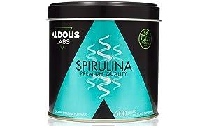 Espirulina Ecológica Premium para 9 Meses | 600 comprimidos de 500mg con 99% BIO Spirulina | Vegano - Saciante - DETOX - Proteína Vegetal | Libre de Plástico | Certificación Ecológica Oficial