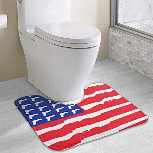Hoklcvd US GunFlag Anti-Rutsch-Kontur Badematte für WC, saugfähiges Wasser, perfekt für Badezimmer. Kaufen Sie online Badematten zu den besten Preisen