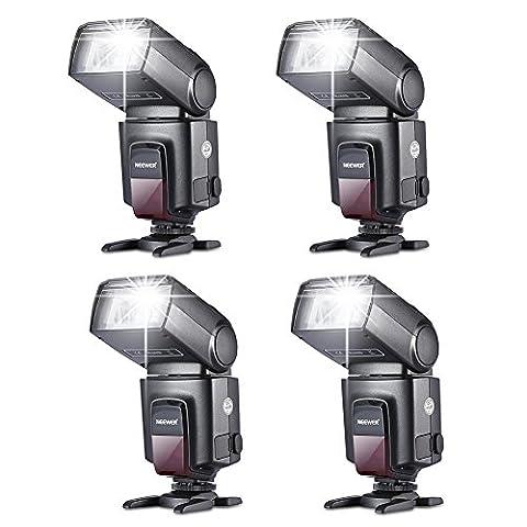 Neewer® Kit de Quatre TT560 Flash Speedlite pour Canon Nikon Panasonic Olympus Fujifilm Pentax Sigma Minolta Leica et d'autres DSLR Caméras et Caméras Numériques