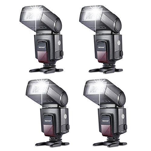 Neewer® TT560 Vier Blitzgerät Blitz Speedlite Set für Canon Nikon Sony Olympus Panasonic Pentax Fujifilm Sigma Minolta Leica und andere SLR Digital SLR Spiegelreflex-Kameras und Digitalkameras mit Single-Kontakt Blitzschuh