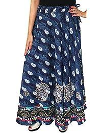 Maple Clothing Ropa Diseño India Falda Larga Algodón Para Mujer Bloque Impreso