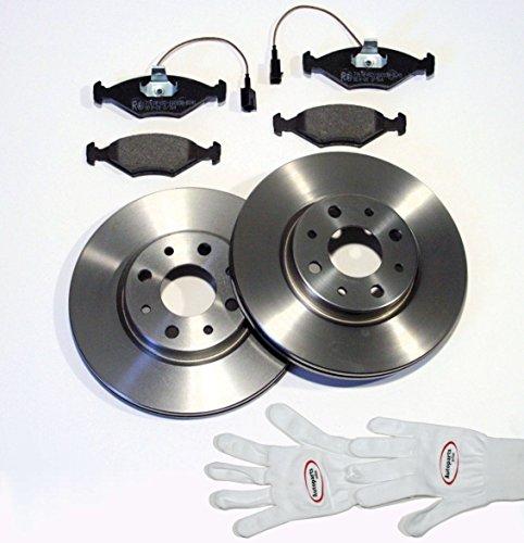 Autoparts-Online Set 60008566 Bremsscheiben Ø 284 mm/Bremsen + Bremsbeläge + Warnkabel für vorne/für die Vorderachse