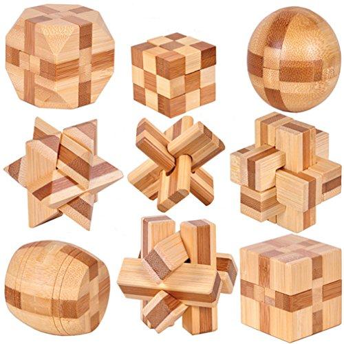 Holzsammlung 9 Pièces 3D...