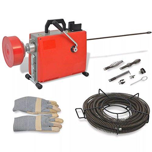 vidaXL Rohrreinigungsmaschine 250W 15mx16mm/4,5mx9,5mm Rohrreinigungsgerät