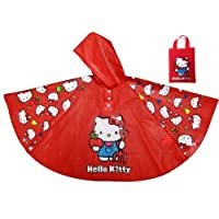 BB Designs Hello Kitty Poncho Style Rain Coat Plaything, Amusement, Play, Toys, Game