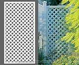 bambus-discount.com Rankgitter, Longlife weiß, 180 x 90cm aus Kunststoff - Sichtschutz, Sichtschutz Elemente, Sichtschutzwand, Windschutz