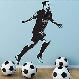 Empire merchandising poster de football de football psg zlatan ibrahimovic creative art amovible - Papier peint psg ...