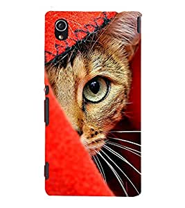 99Sublimation Cat with big eyes 3D Hard Polycarbonate Back Case Cover for Sony Xperia M4 Aqua, Sony Xperia M4 Aqua Dual