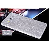 Heartly Sparking Crystal Diamond Protective Film Whole Body Phone Skin Sticker For Samsung Galaxy On8 / Samsung Galaxy J7 (2016) - Champagne Silver