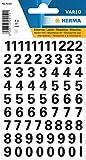 Herma Zahlen, 10mm, 0-9, wetterfest, Folie, schwarz, 1 Bl., 4159