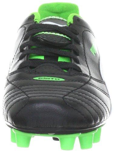 Puma  Esito Finale i FG Jr, chaussures de sport - football mixte enfant Schwarz (black-white-fluro green 08)