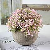 Bonsai Vintage decorazioni fiore Ball Erba Ball Vaso Decorazione Casa in plastica fiori artificiali Verde erba Piante, B