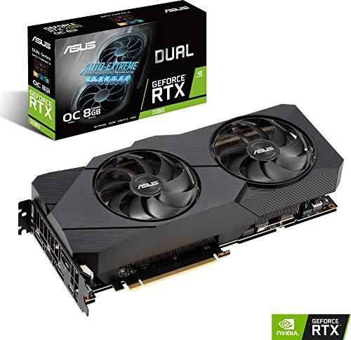 ASUS DUAL-RTX2080-O8G-EVO - Tarjeta gráfica de 8GB GDDR6 con refrigeración de Alto Rendimiento para Jugar en 4K, 256 bits, Frecuencias de refresco más Altas, PCI Express 3.0