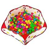 Bambinorecinto Ocean Ball Piscina per Bambini Tenda da Campeggio ToddlerTappetino per Moquette Crawl Indoor Principessa Onda Casa Casa Pieghevole Gioco Giocattolo della Ragazza