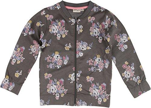 Papfar Mädchen Strickjacke Printed Sweatshirtjacke, Mehrfarbig (Dark Grey 150), 128 (Herstellergröße: 8Y)