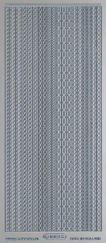 Unbekannt Starform Peel Off Zier-Sticker 1001 silber Ränder -
