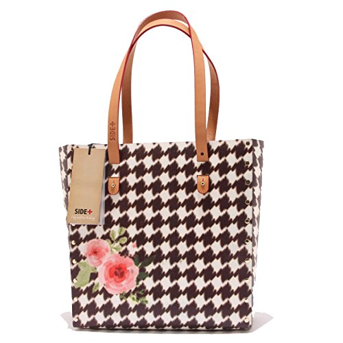 0599T borsa donna SIDE+ TOTEBAG SMALL ROSES ecofriendly hand bag woman Multicolore