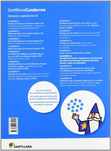 NUMEROS Y OPERACIONES 12 SANTILLANA CUADERNOS - 9788468013015