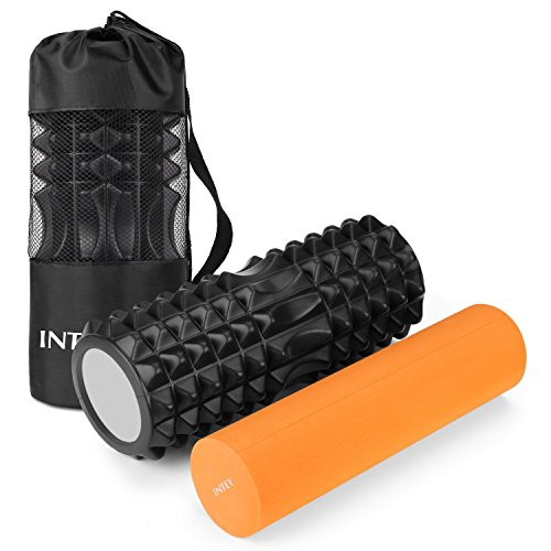 INTEY Foam Roller Rouleau Massage Kit de 2 en...