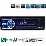 AUDEW Autoradio MP3 Bluetooth Lecteur Stéréo Radio Transmetteur FM Voiture Récepteur LCD Player avec Télécommande Input Port Aux USB/SD/WMA Mains Libres téléphone 50Wx4 DC 12V