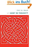 What Is Thought? (Bradford Books)