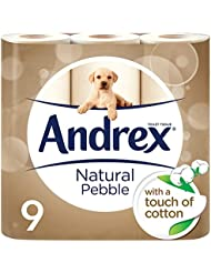 Andrex Natural Pebble Toilet Roll Tissue Paper - 9 Rolls