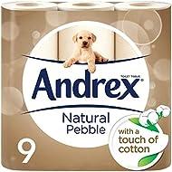 Andrex Natural Pebble Toilet Tissue, 9 Rolls