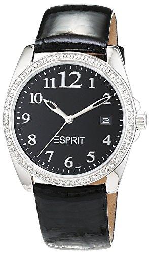 Esprit ES100502001 - Reloj de pulsera hombre, Cuero, color Negro