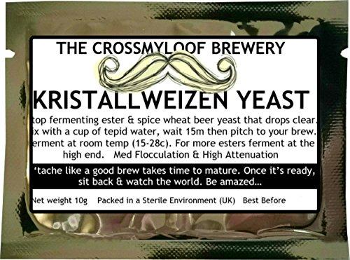 Bierhefe zum Brauen zu Hause. Kristallweizen, Hefeweizen. Erhältlich auch in Packungen von 3, 5 und 10. 65 G