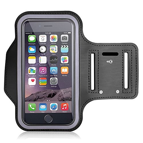 CartNbuy Sports Running Jogging Gym Armband Case Holder Compatible for Redmi note 5/pro/ 5, Oneplus 5T and all Other Smartphones(Black)