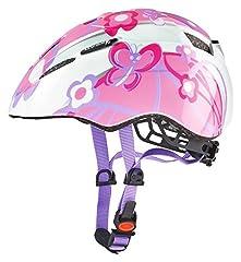 Idea Regalo - Uvex, Casco da ciclismo Bambina, motivo: Farfalle, Rosa (Butterfly), 46 - 52 cm