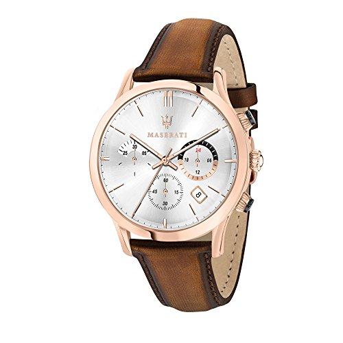 MASERATI Reloj Cronógrafo para Hombre de Cuarzo con Correa en Cuero R8871633002