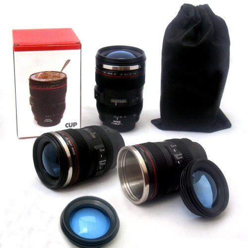 MFEIR Taza de la lente de la cámara taza de café Copas de la lente en forma de la lente de la cámara para el café, la leche, el agua