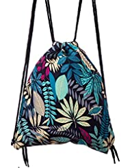 Lady Donovan - bolso impreso bolsa de yute bolsa de deporte bolsa de yute Hipster - flores azules