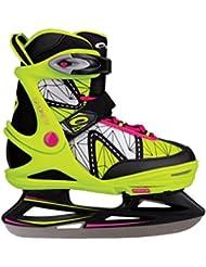 SPOKEY® ZIPPY Patines de hielo | Niños | Cuchillas hockey sobre hielo | Mujer | Acero inoxidable | Tamaño ajustable | 32-35 | 35-38 | 38-41, Color:verde;Spokey Größen:32-35